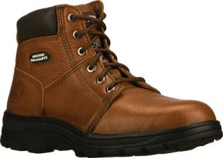 Mens Skechers Work Relaxed Fit Workshire Steel Toe   Brown