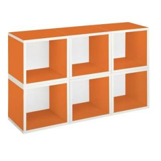 Way Basics zBoard 6 Cubes Eco Modular Cubby Organizer, Tool Free Assembly Storage in Orange PS MC 6 OE