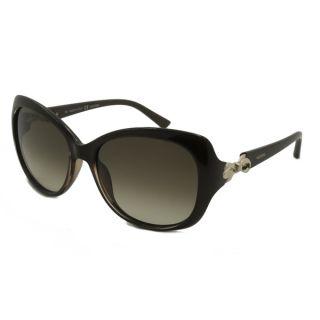 Bvlgari BV6070H 239/8G Black Metal Cat Eye Sunglasses Grey Gradient