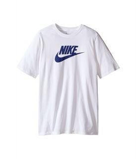 Nike Kids Futura Icon Tee (Little Kids/Big Kids) White/Deep Royal Blue
