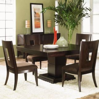 Klaussner 735 054 Nikka Dining Table and 4 Side Chairs in Dark Wood