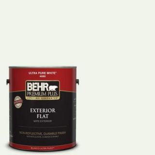 BEHR Premium Plus 1 gal. #W D 600 Bridal Veil Flat Exterior Paint 405001
