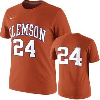 Nike Clemson Tigers Orange Basketball Player Number T Shirt