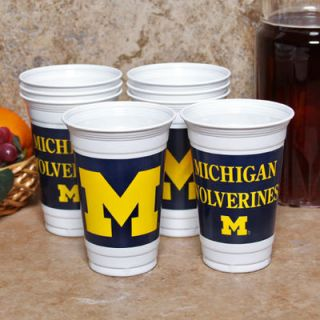 Michigan Wolverines 8 Pack 20oz. Plastic Cups