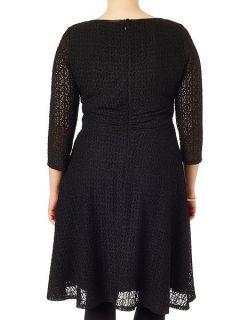 Studio 8 Plus Size Maya lace dress Black