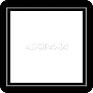 Renaissance Albums Slip In Mat, Large, Black with Silver Stamping, 1 10x10 Square Opening, 1 Mat MS803BS1