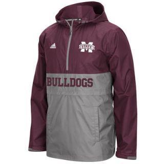 Mississippi State Bulldogs adidas Sideline Shock Energy 1/4 Zip Jacket   Maroon
