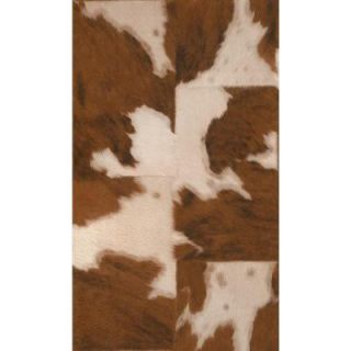 Washington Wallcoverings African Queen II 56 sq. ft. Brown on Tan Natural Cowhide Textured Vinyl Wall Paper AQ473902