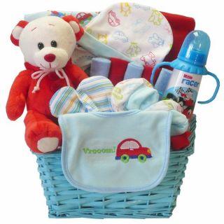 Art of Appreciation Go Go Baby Boy Teddy Bear Gift Basket   17480313