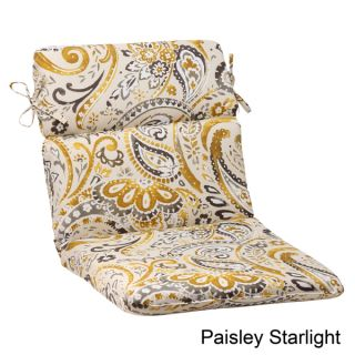 Pillow Perfect Paisley Polyester Rounded Outdoor Chair Cushion