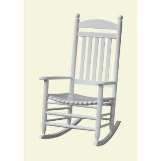 Bradley White Slat Patio Rocking Chair 200SW RTA