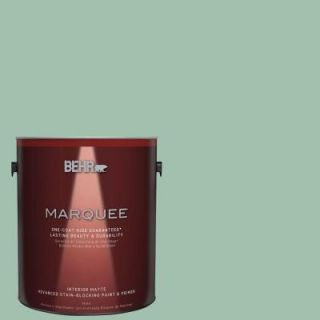 BEHR MARQUEE 1 gal. #MQ6 13 Spring Reflection One Coat Hide Matte Interior Paint 145401