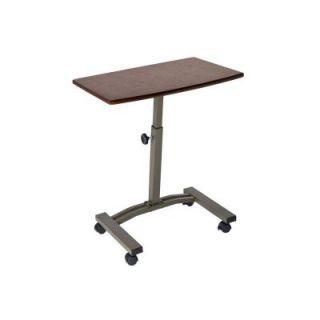 Seville Classics Mobile Laptop Desk Cart in Walnut WEB162
