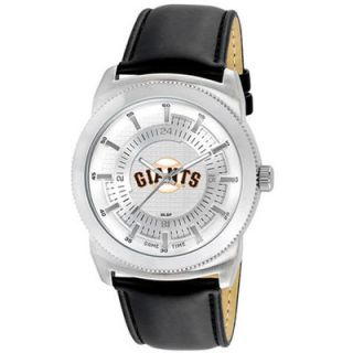 San Francisco Giants Mens Leather Vintage Watch