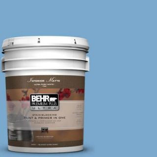 BEHR Premium Plus Ultra 5 gal. #M520 4 Mirror Lake Matte Interior Paint 175405
