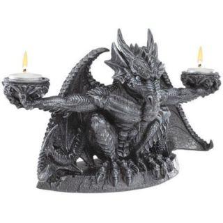 Design Toscano Judging the Darkness Dragon Novelty Candle Holder