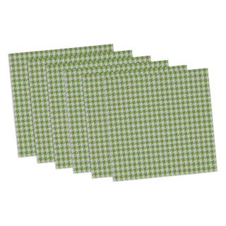 Design Imports Black and White Houndstooth Placemat   Set of 6   Placemats