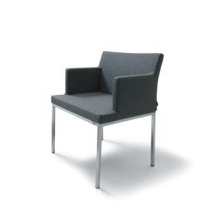 Soho Metal Base Wool Arm Chair by B&T Design