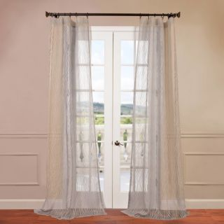 Half Price Drapes Piera Patterned Sheer Single Curtain Panel