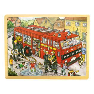 Big Jigs 24 Piece Fire Engine Tray Puzzle   Toys & Games   Puzzles