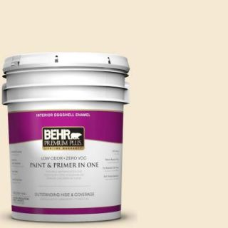 BEHR Premium Plus 5 gal. #YL W7 Smooth Silk Eggshell Enamel Interior Paint 205005
