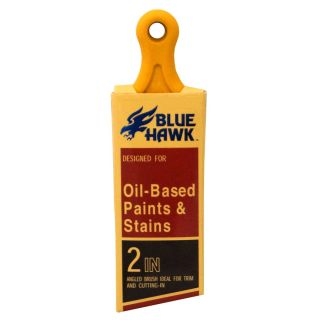 Blue Hawk Natural Bristle and Polyester Blend Angle Sash Paint Brush (Common: 2 in; Actual: 2.06 in)