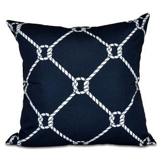 E by Design Nautical Nights Ahoy! Decorative Pillow   Decorative Pillows