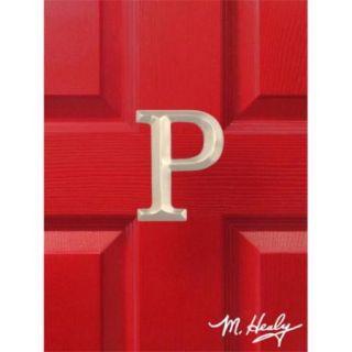 Michael Healy Designs MHMP2 Monogram Letter P Door Knocker, Nickel