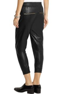 Runner cropped leather tapered pants  OAK