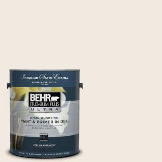 BEHR Premium Plus Ultra 1 gal. #ECC 50 2 Rustic Cream Satin Enamel Interior Paint 775001