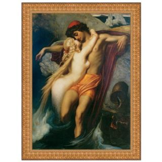 Design Toscano The Fisherman and the Syren, 1858 by Frederic Leighton Framed Painting Print