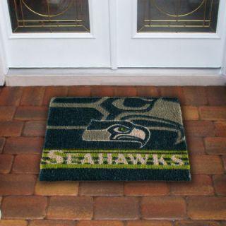 Seattle Seahawks 18 x 30 Coir Welcome Mat