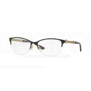 0d4ace266b ... VERSACE Eyeglasses VE 1228 1291 Black Pale Gold MM ...