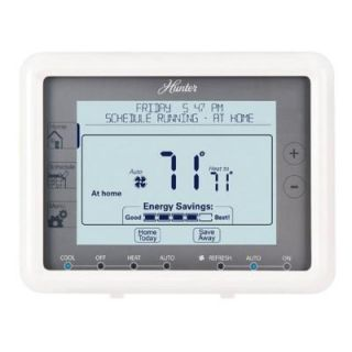 Hunter 7 Day Touchscreen Programmable Thermostat Universal DISCONTINUED 44905