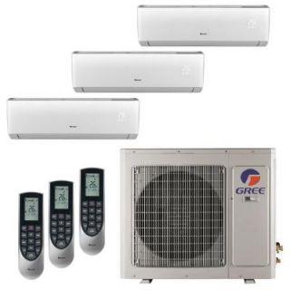 GREE Multi 21 Zone 24,000 BTU 2 Ton Ductless Mini Split Air Conditioner with Heat, Inverter, Remote   208 230 Volt/60Hz MULTI24HP300