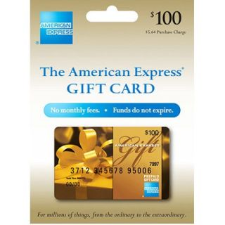 100 American Express Gift Card (purchase fee included)