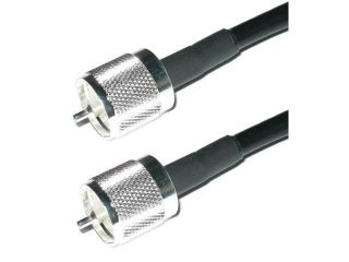 Times Microwave LMR 240 PL 259 HF/VHF/UHF Coaxial Cable Ham or CB Radio Antenna Cable    25 ft