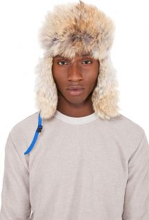 6b9bf3762f8 Canada Goose Blue Coyote Fur Aviator Hat on PopScreen