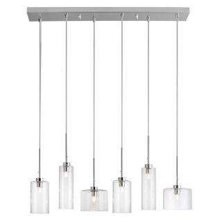 Dainolite IC 286P PC Industrial Chic 6 Light Horizontal Pendant in Polished Chrome