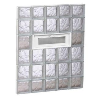 Clearly Secure 28.75 in. x 42.5 in. x 3.125 in. Vented Wave Pattern Glass Block Window 3044VDC