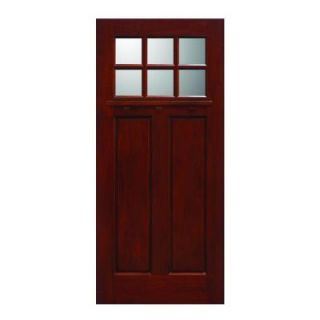 Main Door 36 in. x 80 in. Mahogany Type Prefinished Cherry Beveled Zinc 3/4 Oval Glass Solid Stained Wood Front Door Slab SH 557 CH BZ