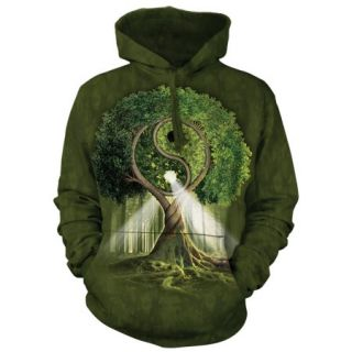 Yin Yang Tree Forest Nature Adult Hoodie Hooded Sweatshirt