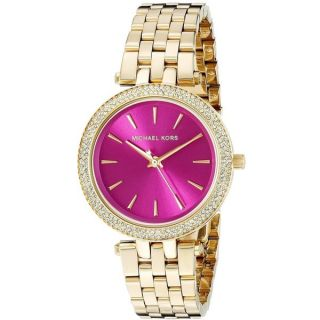 Michael Kors Womens MK3444 Mini Darci Diamond Pink Dial Gold Tone