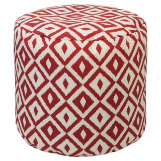Gold Medal 19 x 17 in. Aztec Outdoor Pouf   Ottomans