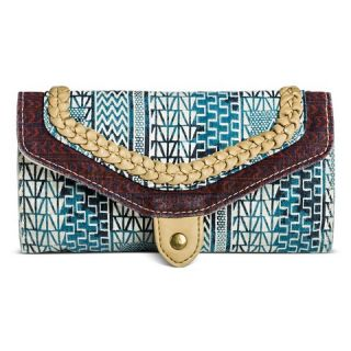 Womens Printed Wallet Blue and White   Mossimo Supply Co